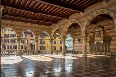 Inside of Loggia Lionello in Udine (City hall) Stock Photos