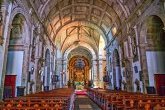 Inside Loios church in Santa Maria da Feira royalty free stock photography