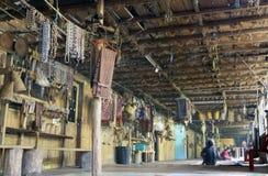 Inside a long house in Sarawak Stock Photos