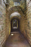 Inside the long and narrow corridors of the fortress Royalty Free Stock Images