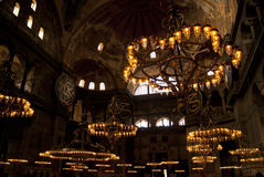 The inside look of Aya Sophia Royalty Free Stock Photos