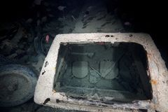 Inside look of a truck on the SS Thistlegorm. Royalty Free Stock Images