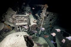 Inside look of a truck on the SS Thistlegorm. Stock Photo