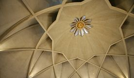 Inside the lotus temple, delhi Stock Image