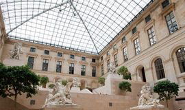 Inside Louvre Stock Photo