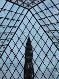 Inside Louvre. Inside le Louvre stock images