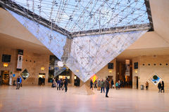Inside the Louvre Museum (Musee du Louvre) Royalty Free Stock Photos