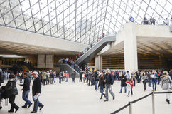 Inside the Louvre Museum. (Musee du Louvre), Paris, France Royalty Free Stock Photography