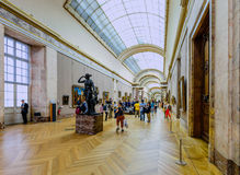 Inside of the Louvre Museum Royalty Free Stock Image