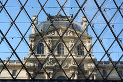 Inside Louvre pyramid Stock Image