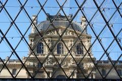 Inside Louvre pyramid Stock Image