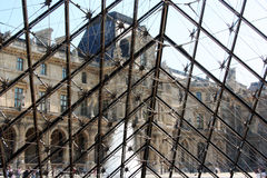 Inside Louvre pyramid Royalty Free Stock Image