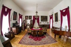 Inside of Lubovna castle, Slovakia. STARA LUBOVNA, SLOVAKIA - MAY 20: Interior of Lubovna castle on May 20, 2017 in Stara Lubovna royalty free stock image