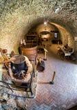 Inside of Lubovna castle, Slovakia. STARA LUBOVNA, SLOVAKIA - MAY 20: Interior of Lubovna castle on May 20, 2017 in Stara Lubovna stock images