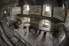 Inside of Lubovna castle, Slovakia. STARA LUBOVNA, SLOVAKIA - MAY 20: Interior of Lubovna castle on May 20, 2017 in Stara Lubovna royalty free stock images
