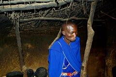 Inside a Maasai hut, Kenya Royalty Free Stock Photos