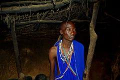 Inside a Maasai hut, Kenya Royalty Free Stock Photography