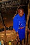 Inside a Maasai hut, Kenya Stock Images