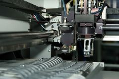Inside machine. Part of specialist machine to printed circuit production Royalty Free Stock Photos