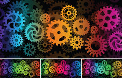 Inside the machine (abstract picture). Vector illustration of abstract background (inside the machine Stock Image