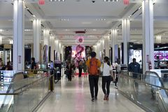 Inside Macy`s Department store in New York City Royalty Free Stock Photography