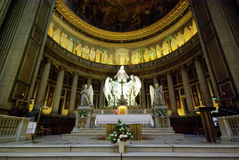 Inside Madeleine church Stock Image