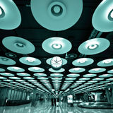 Inside of the Madrid's Barajas airport. Royalty Free Stock Photos