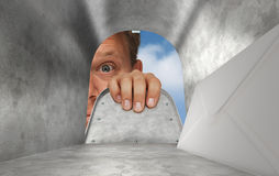 Inside the mailbox Royalty Free Stock Images
