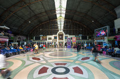 Inside the main departure hall of Hua Lamphong railway station, Bangkok, Thailand Royalty Free Stock Photography