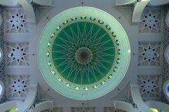 Inside main dome of Sultan Ahmad Shah 1 Mosque in Kuantan Stock Photos