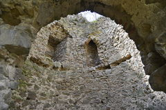 Inside the main tower of the Bologa medieval fortress. Stock Images