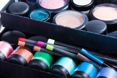 Inside makeup case Royalty Free Stock Photos