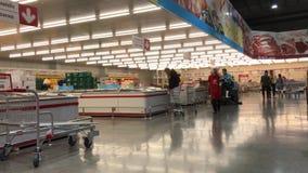 Inside of Makro supermarket. Footage of Makro Maerim in Chiangmai, Thailand.