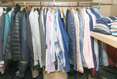 Inside male closet Royalty Free Stock Photos