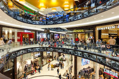 Inside of Mall of Berlin at Leipziger Platz. Berlin, Germany Royalty Free Stock Photo