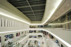 Inside of a Mall Stock Image