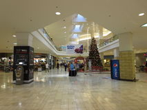 Inside a mall. Clackmas Mall Vancouver Washington is ready for christmas sale royalty free stock photos