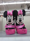 Minnie mouse boots for girls. Are kept for sale in gift section of kids royalty free stock image