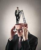 Inside a man's mind Stock Photo