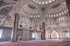 Inside Manavgat mosque, Turkey Royalty Free Stock Photo