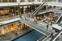 Inside the Marina Bay Shoppes in Singapore. City Stock Images