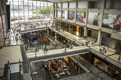 Inside the Marina Bay Shoppes in Singapore. City Royalty Free Stock Images