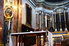 Inside Mdina Cathedral, Malta. Stock Photography