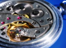 Inside mechanic watch Stock Photo