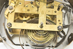 Inside mechanism of old clock Stock Images