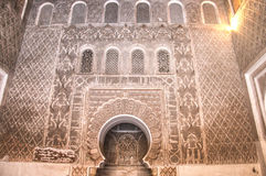 Inside the medersa Ben Youssef in Marrakesh, Morocco Royalty Free Stock Images