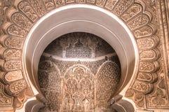 Inside the medersa Ben Youssef in Marrakesh, Morocco Stock Image