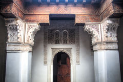 Inside the medersa Ben Youssef in Marrakesh, Morocco Royalty Free Stock Image
