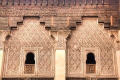 Inside the medersa Ben Youssef in Marrakesh, Morocco Stock Images