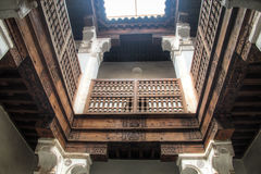 Inside the medersa Ben Youssef in Marrakesh, Morocco Stock Photos